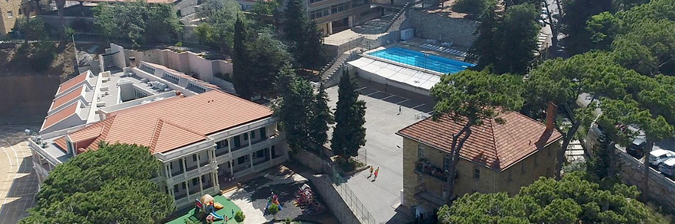Aerial view campus