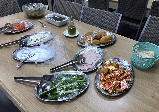 Boarding Section's Traditional Lebanese Breakfast